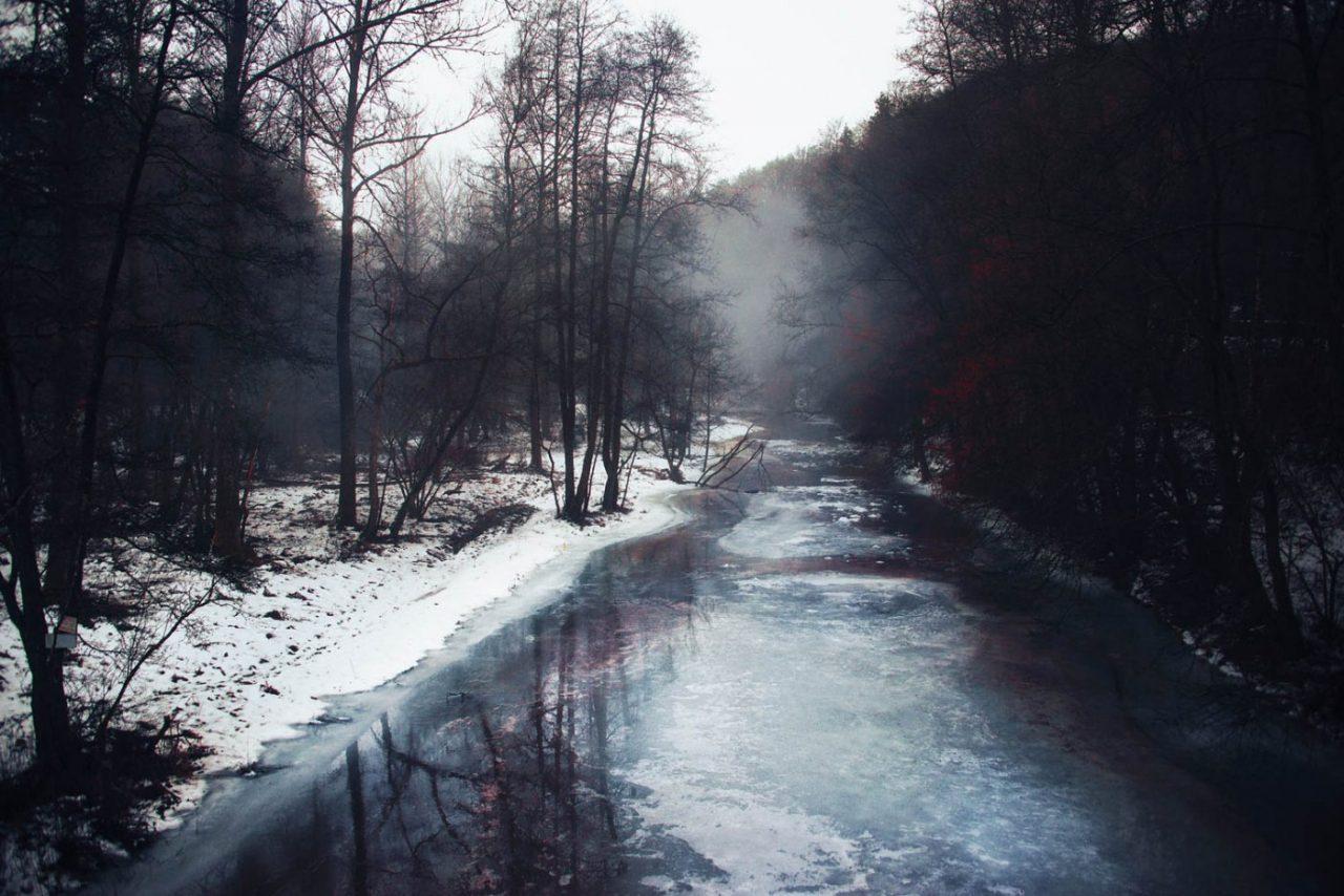 Travel Photography By Anastasia Vervueren Belgium Rensiwez Woods River Winter