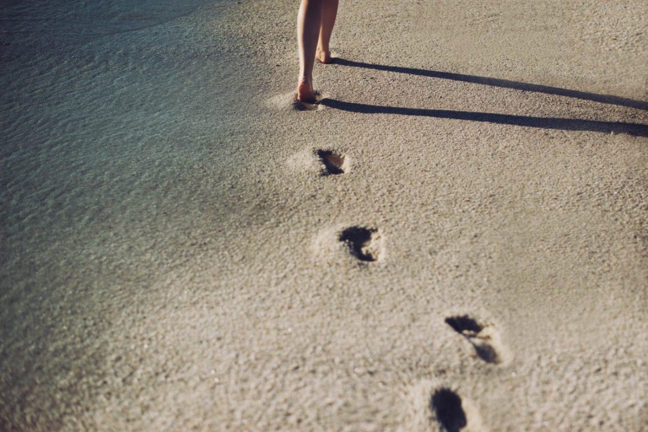 Travel Photography By Anastasia Vervueren Italy Sardinia Beach Footprints