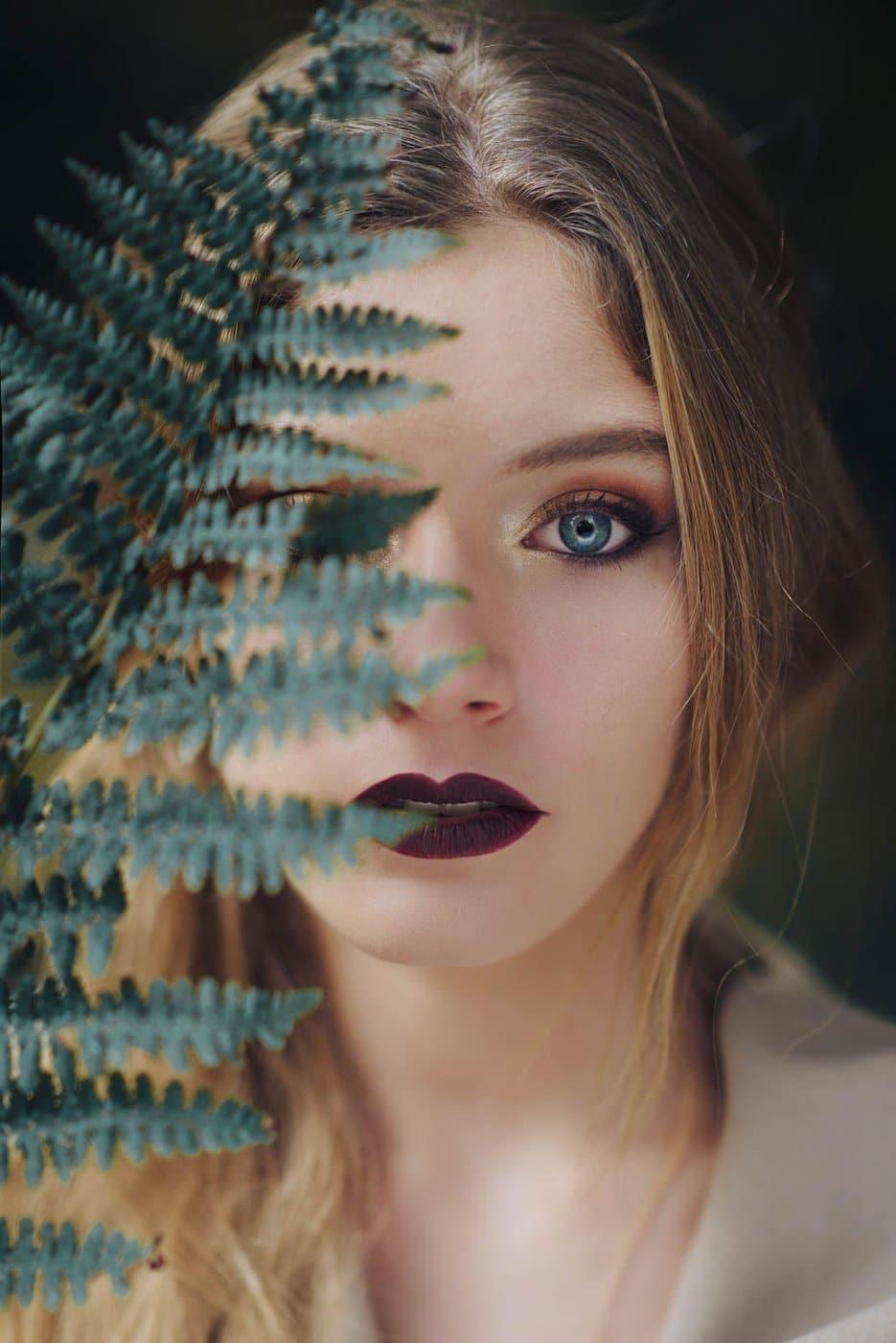 Portrait Photography By Anastasia Vervueren Plants Eyes