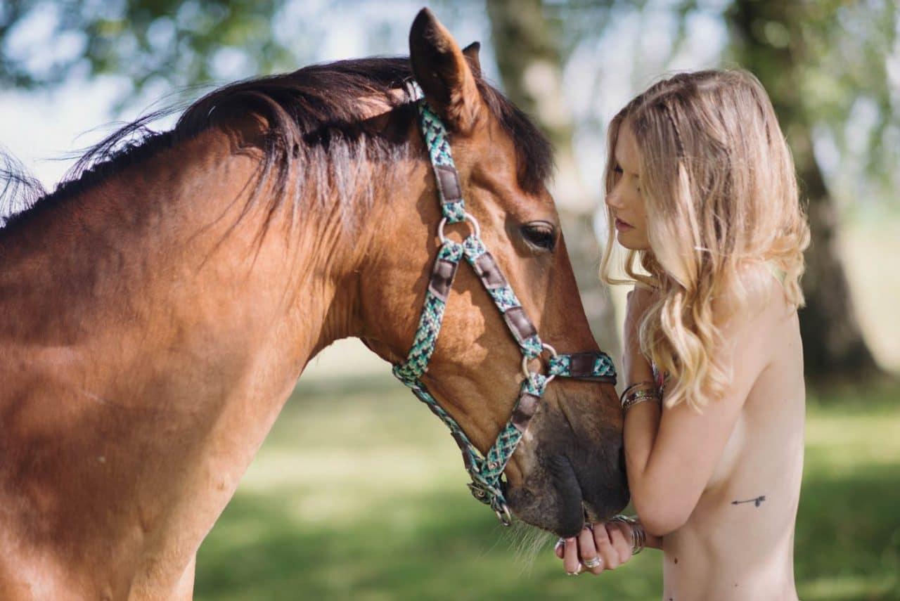 Portrait Photography By Anastasia Vervueren Animal Horse Nude