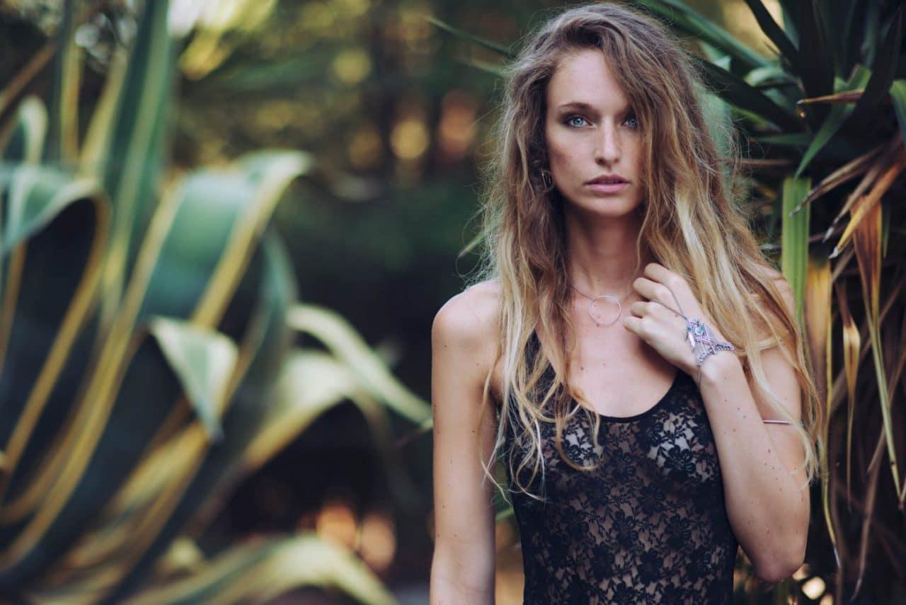 Portrait Photography By Anastasia Vervueren Lingerie Tropical Spain