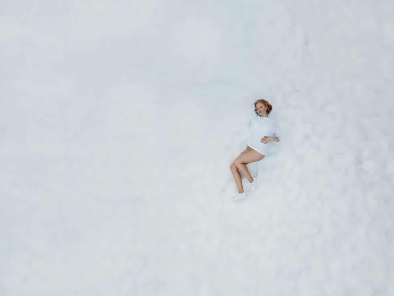 Portrait Photography By Anastasia Vervueren Drone Aerial Snow