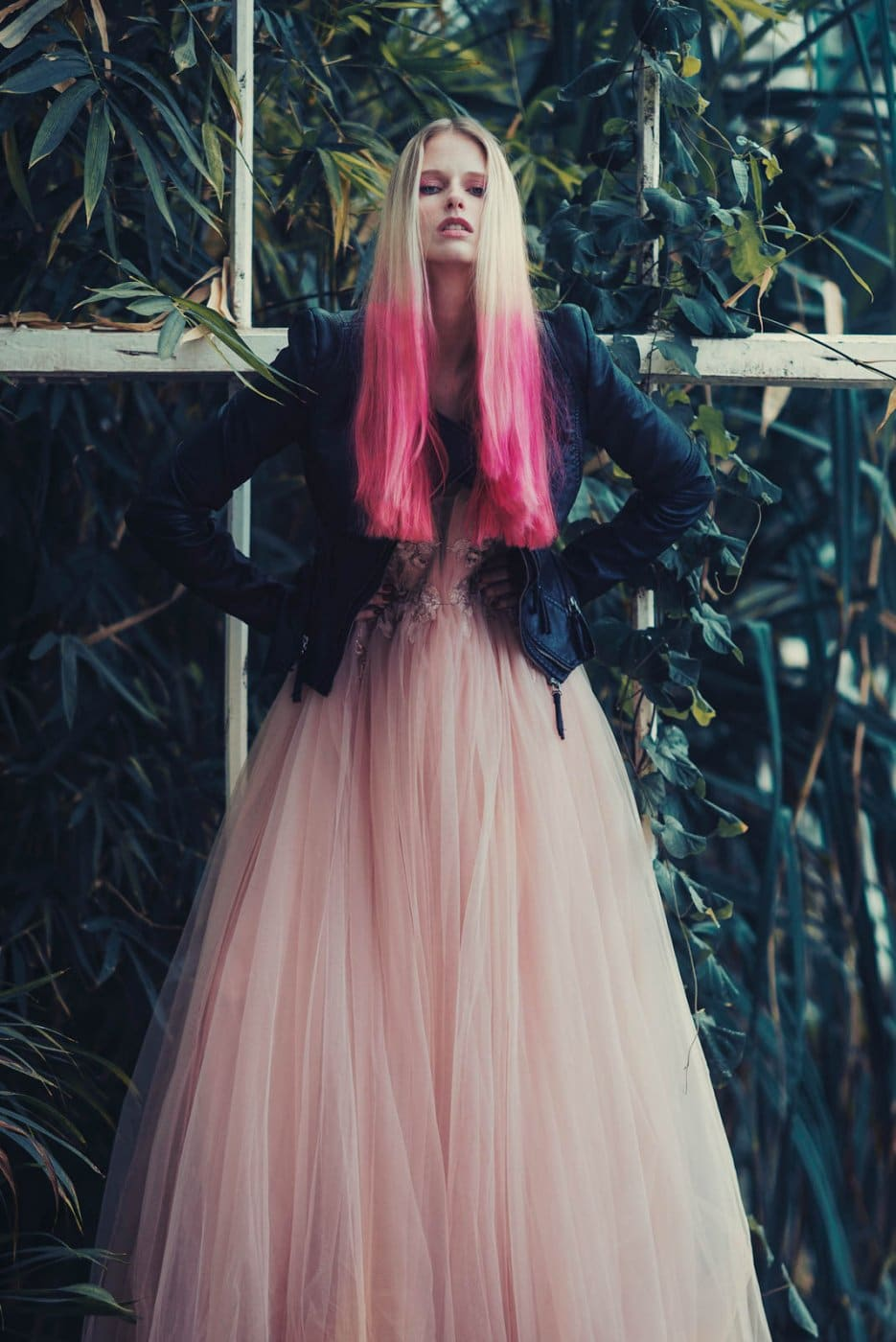 Portrait Photography By Anastasia Vervueren Tropical Goddess Pink Hair