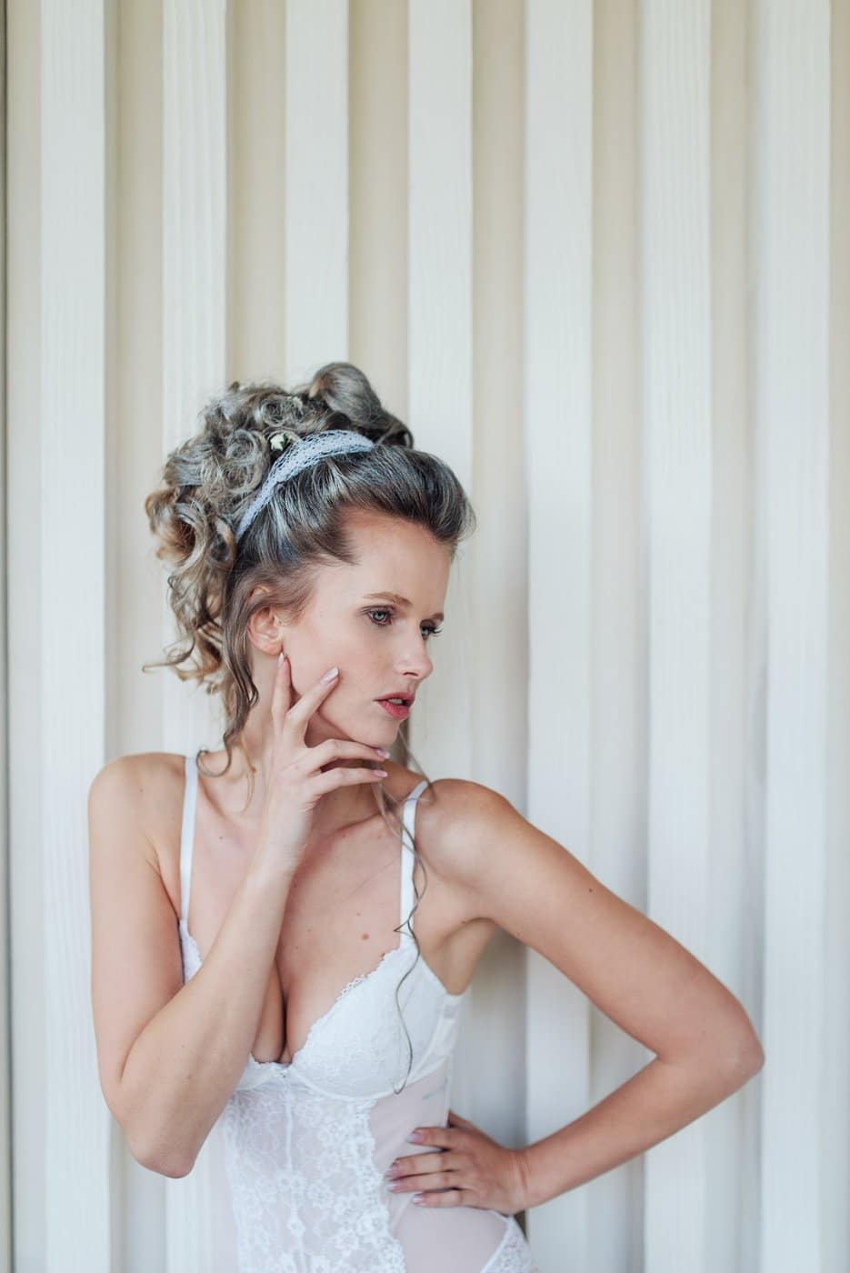 Portrait Photography By Anastasia Vervueren Knokke Marie Antoinette Lingerie