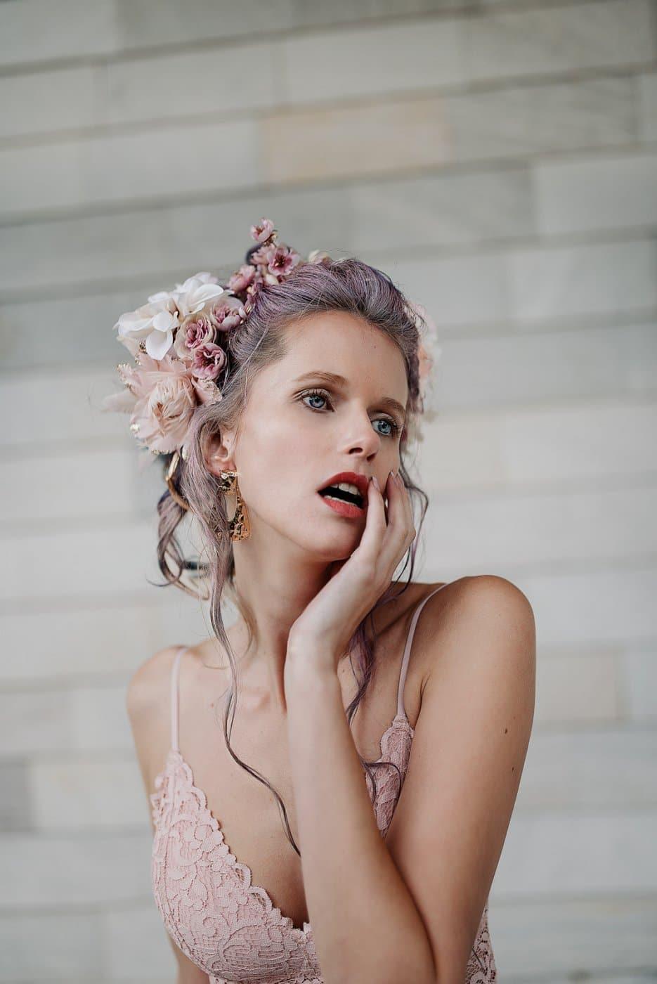 Fashion Portrait Photography By Anastasia Vervueren Marie Antionette Lingerie