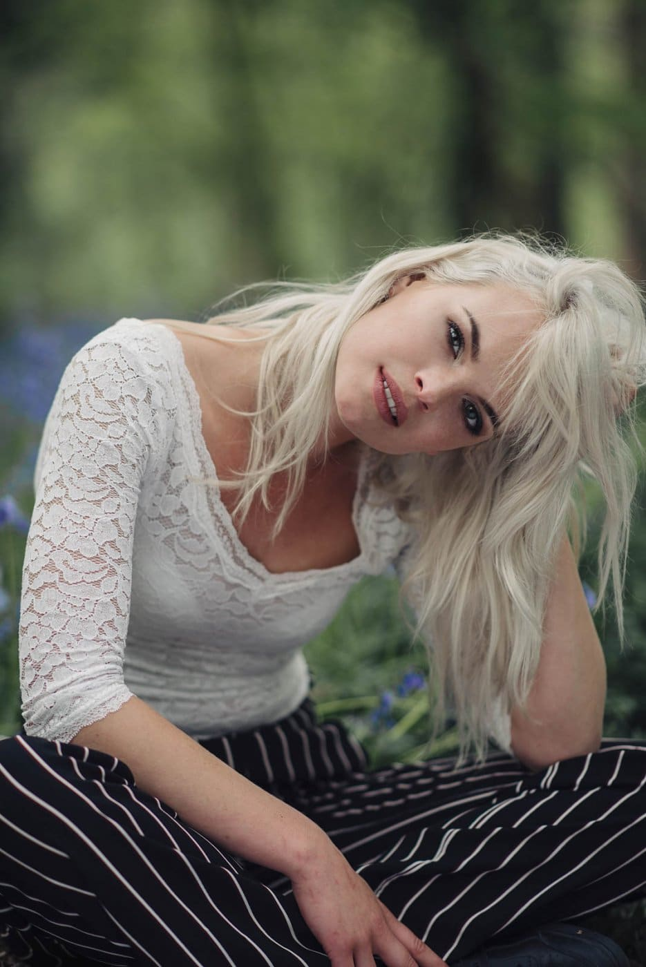 Fashion Portrait Photography By Anastasia Vervueren Hallerbos White Hair