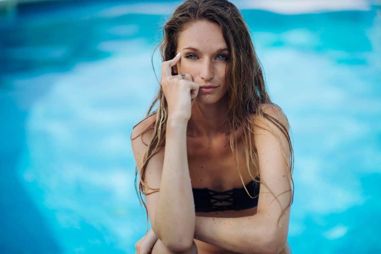 Portrait Photography By Anastasia Vervueren Summer Pool Swimwear