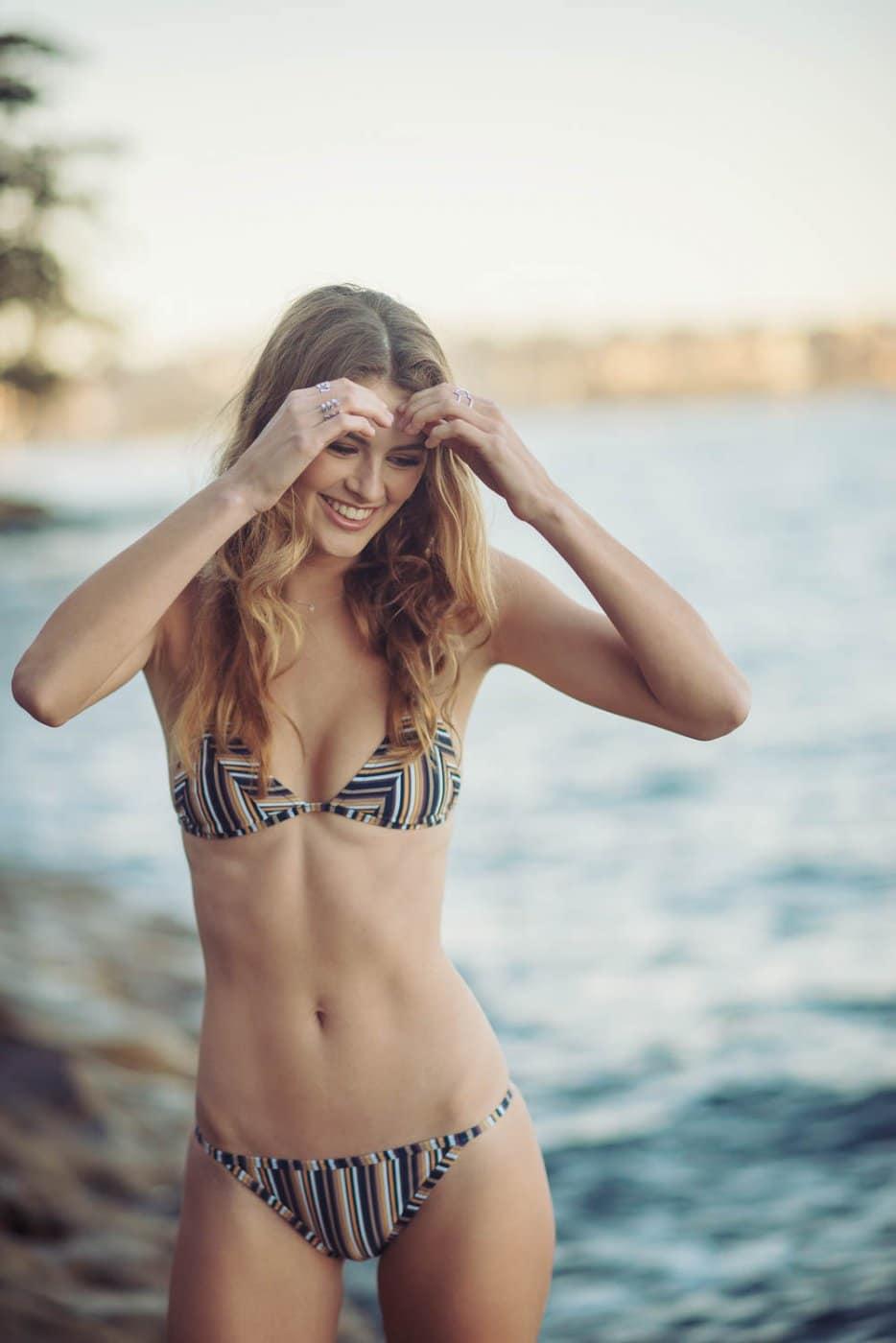 Portrait Photography By Anastasia Vervueren Swimwear Australia Chadwick Models