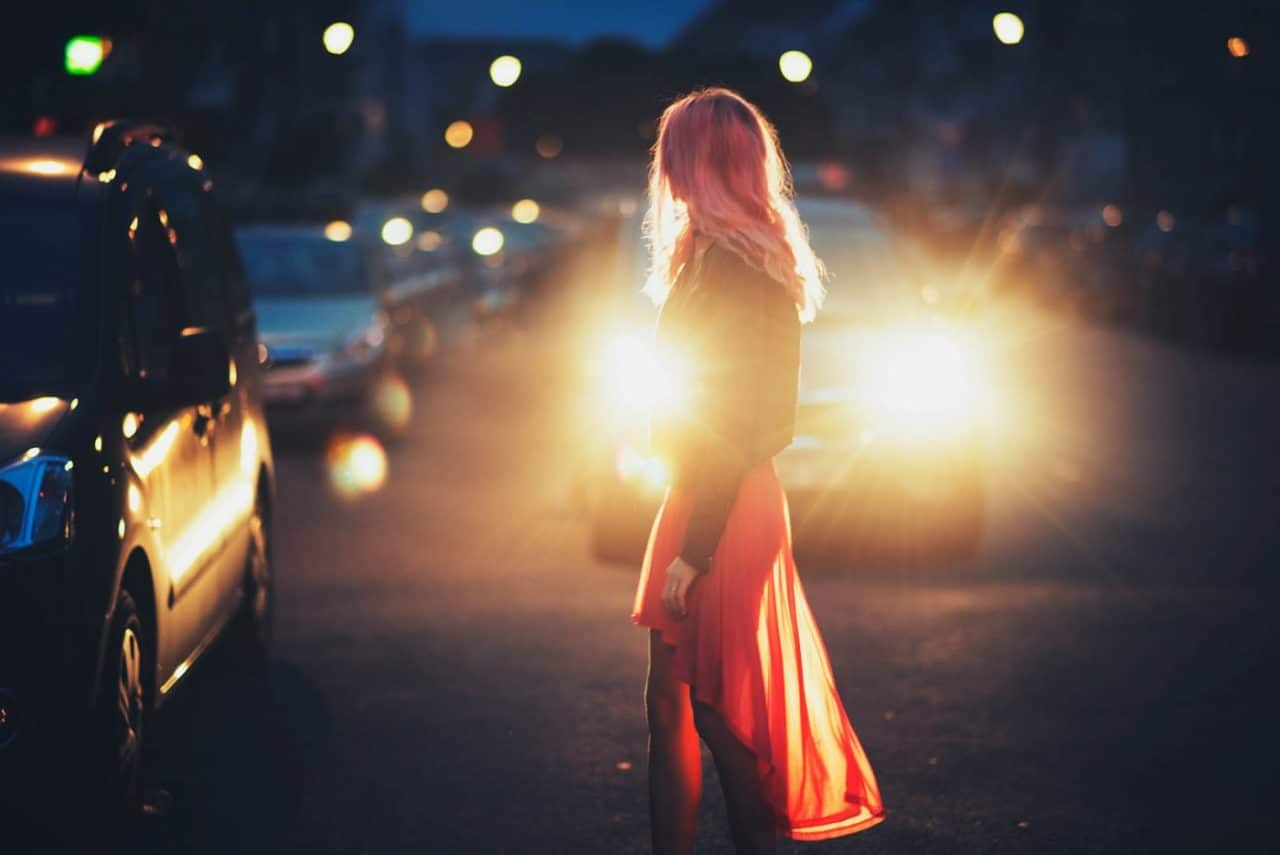 Portrait Photography By Anastasia Vervueren Night City Pink Hair