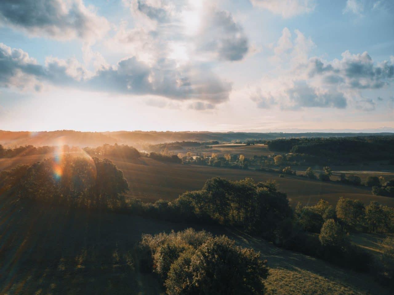 Travel Photography By Anastasia Vervueren France Gers Sunrise Landscape